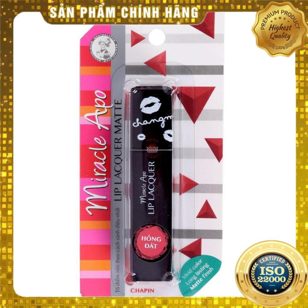 [ Yams Mart ] Son Miracle Apo Lip Lacquer Matte 3ML_Hồng Đất- thumbnail
