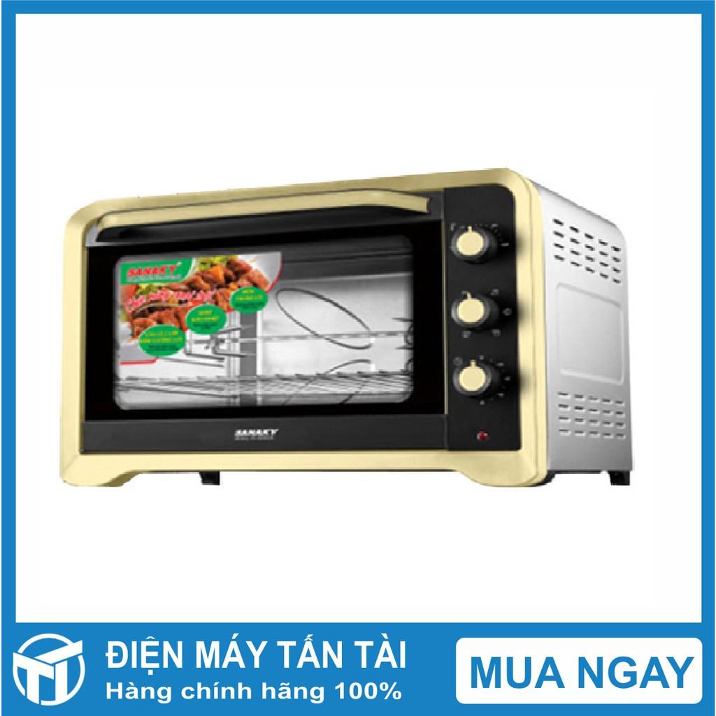 Lò nướng SANAKY 80L, vỏ inox cửa kính 2 lớp VH809N2D ,Công suất: 2200W