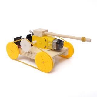 [DIY] Xe tăng chạy pin khung gỗ cho bé 7 tuổi