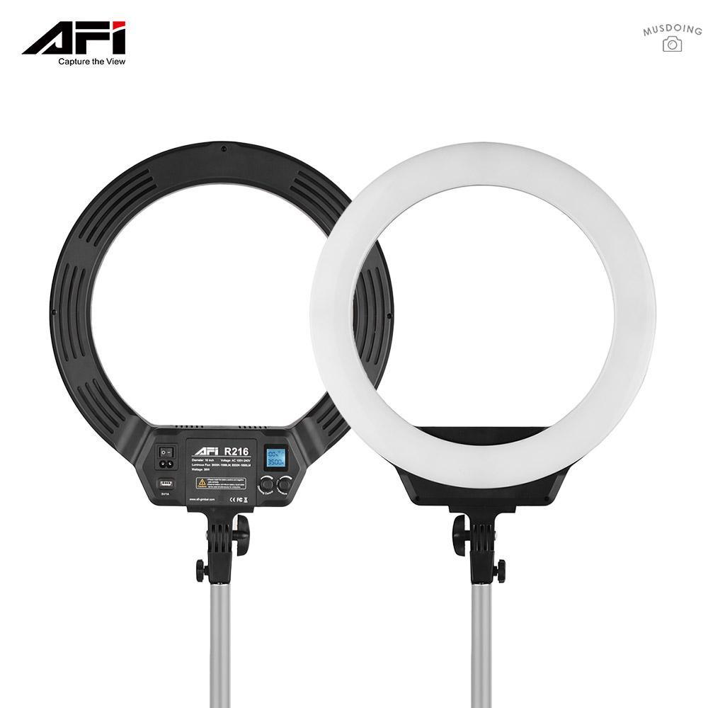 Vòng đèn 16 Inch LED 3000K-6500K 38W điều chỉnh ánh sáng hiển thị LCD cho điện thoại camera