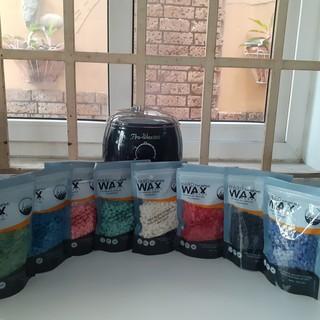 COMBO (Miễn phí que lấy sáp) Sáp wax tẩy lông nóng dạng hạt đậu Hair Wax Bean nhiều màu để khách yêu lựa chọn thumbnail