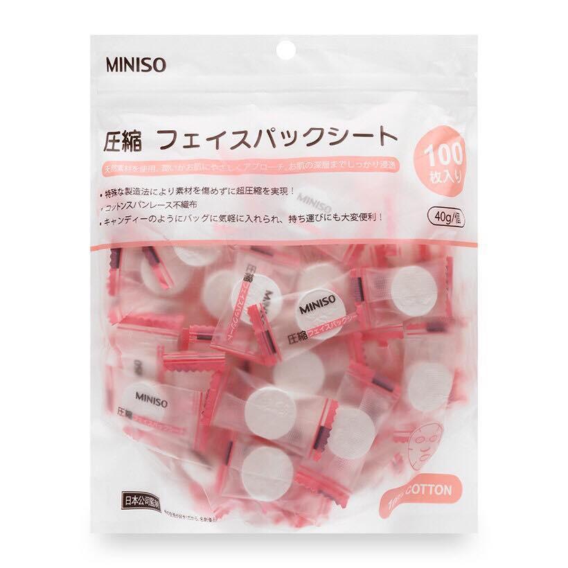Mặt Nạ Giấy Nén Miniso 100 Viên Nhật Bản