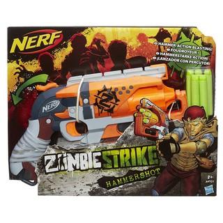 Đồ chơi Nerf HammerShot cò màu cam USA hộp mới tặng thêm 10 que xốp