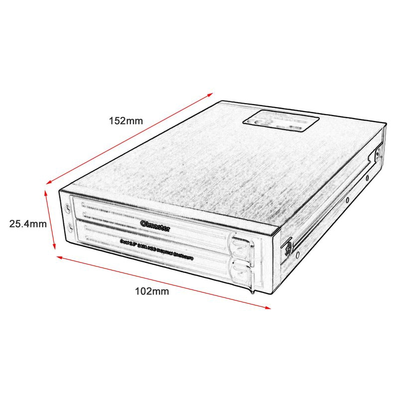 8.15【HOT】OImaster HE-2005 Dual 2.5 Inch SATA HDD Internal Enclosure With LED Indicator
