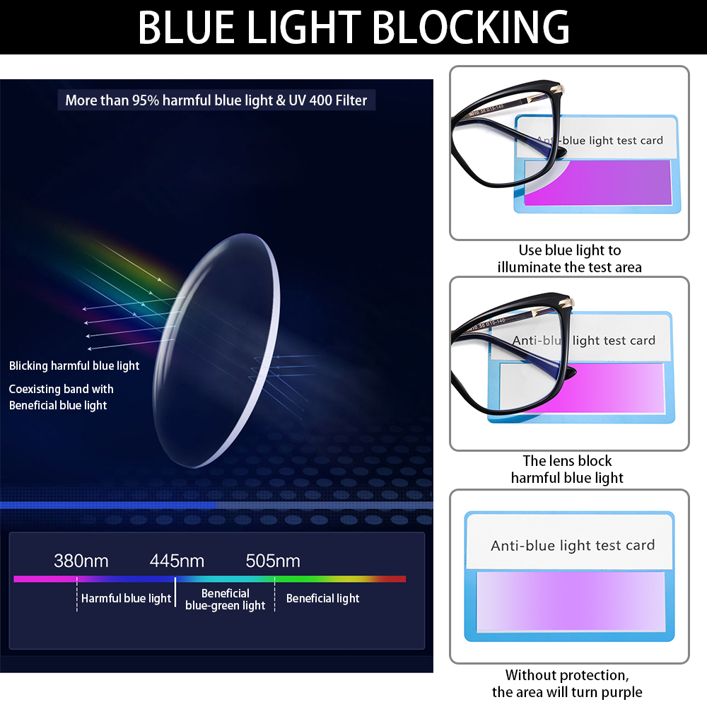 🌟YEW🌟 Women & Men Computer Glasses Non-Prescription Eyeglasses Blue Light Blocking Glasses Reading Gaming Glasses Fashion Square Frame Anti Eye...