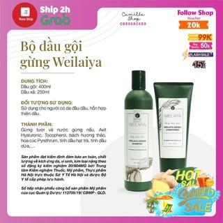 Bộ dầu gội gừng Weilaiya, giảm rụng kích mọc tóc chính hãng, tóc dầu và tóc khô thumbnail