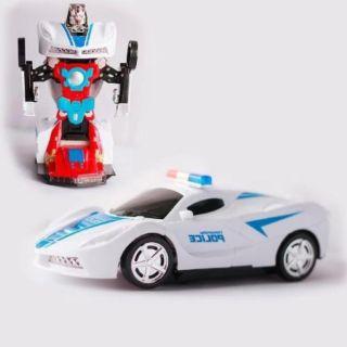 Xe ô tô biến hình robot có nhạc có đèn