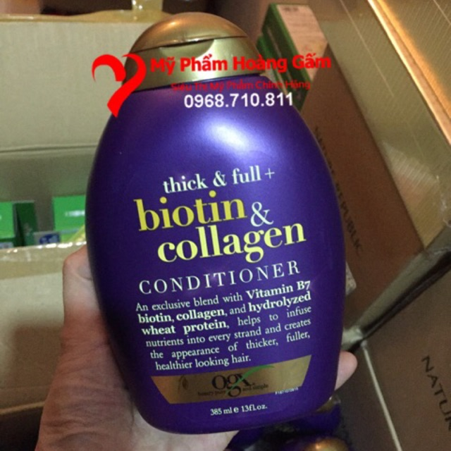 Dầu gội Biotin & Collagen 385ml của Mỹ