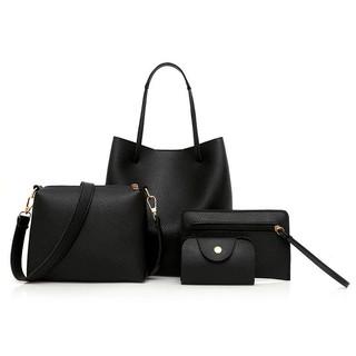 Set túi xách, ví cầm tay 4 món bằng da PU cao cấp thiết kế thời trang cho nữ/ Set túi xách nữ giá rẻ