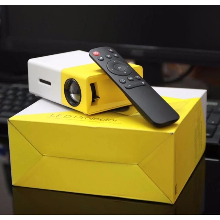 Máy chiếu mini YG-300 Full HD vàng trắng
