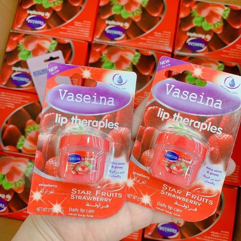 Son dưỡng môi Vaseina chiết xuất lô hội/ dâu giảm nếp nhăn môi 7g