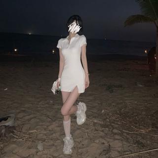 váy body,Phong cách retro,Phong cách Pháp,Mùa hè mới 2021 DNM01 thumbnail
