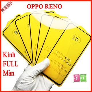 Kính cường lực Oppo Reno full màn hình, Ảnh thực shop tự chụp, tặng kèm bộ giấy lau kính taiyoshop2 thumbnail