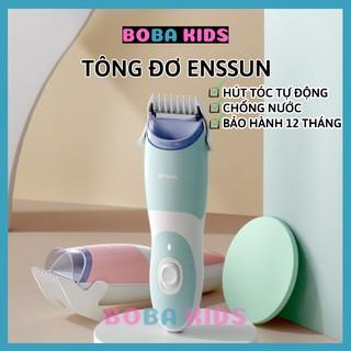 Tông Đơ Cắt Tóc Sạc Điện – Tự động hút tóc, chống nước dễ dàng vệ sinh – Tặng kèm dậu gội cho bé