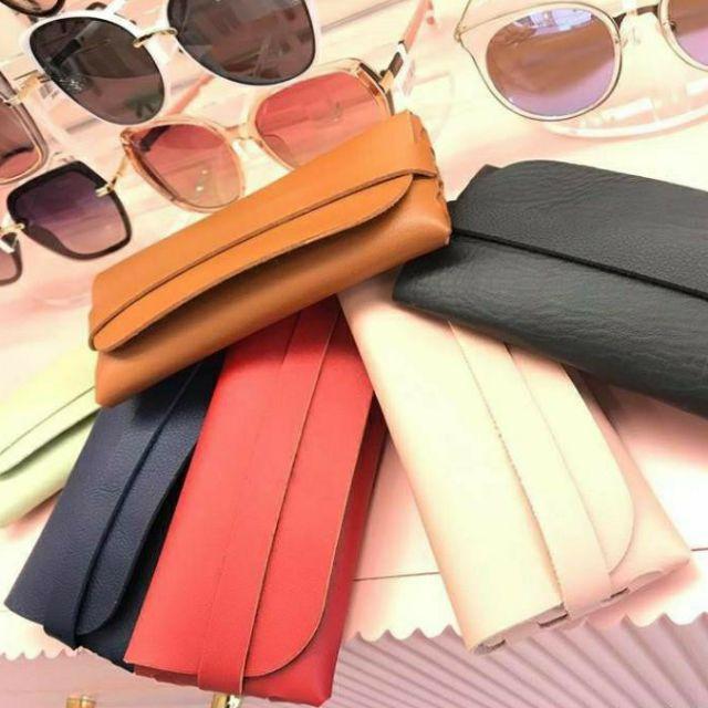Bao da đựng kính thời trang cao cấp – Hộp kính 6 màu