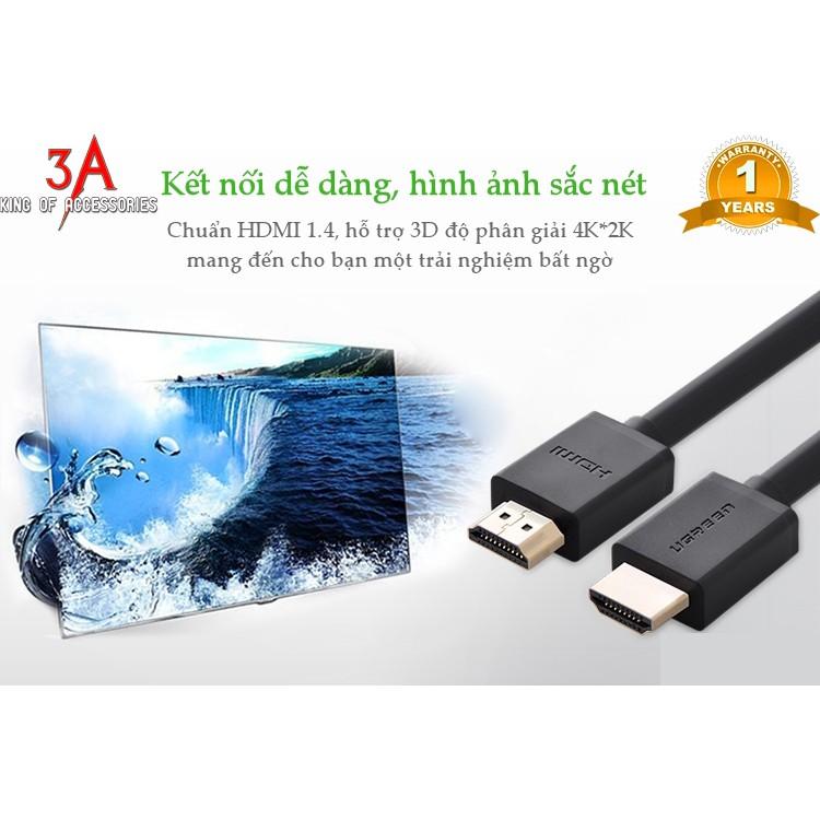 Dây HDMI UGREEN HD104 hỗ trợ 3D, dài 10m 15m 20 30m ugreen 10110 10111 10112 10113 - Hàng Chính Hãng