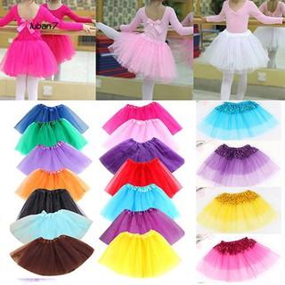 Chân váy tutu kiểu công chúa bằng vải tulle sequin cho bé gái thumbnail