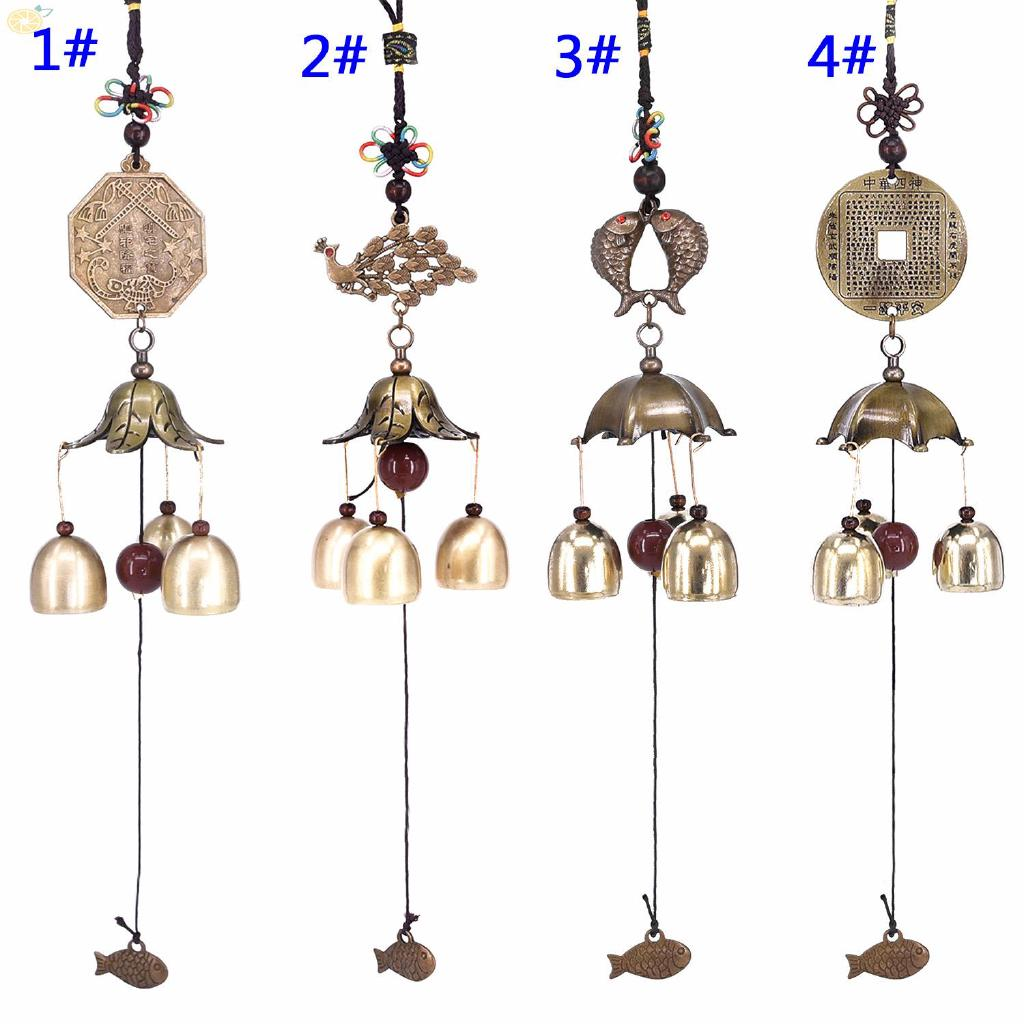 Wind Chime Aeolian Bells Windbell Copper Wind-bell Decor Ornament Traditional Outdoor Hanging Blessing Fortune