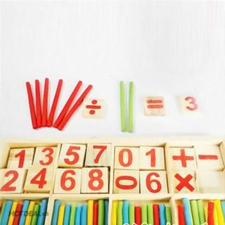Bộ que tính học toán bằng gỗ cho bé_Siêu Rẻ