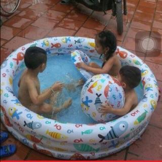 Bể bơi 3 chi tiết kèm bóng phao