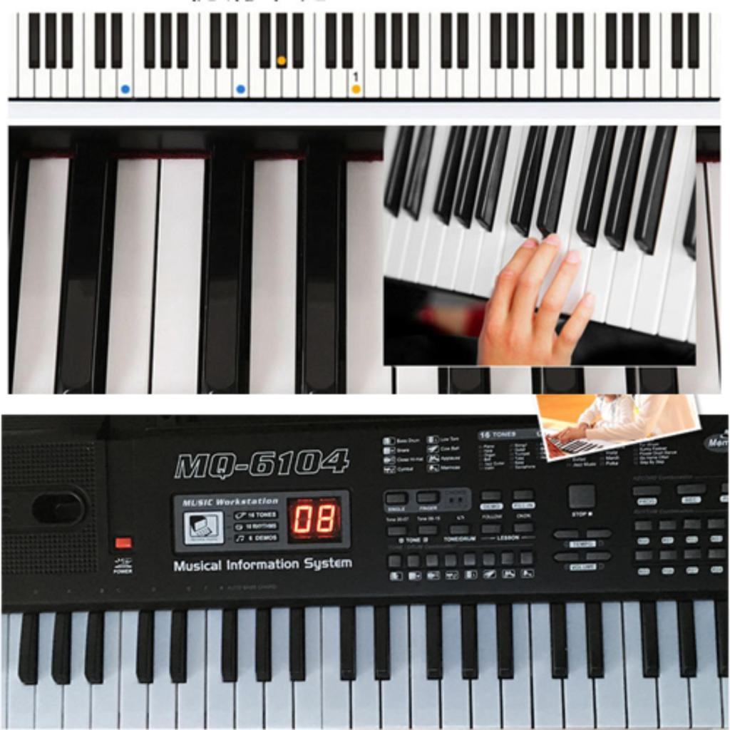 Instrument Musical คีย์บอร์ด เปียโนไฟฟ้า 61key BANDSTAND