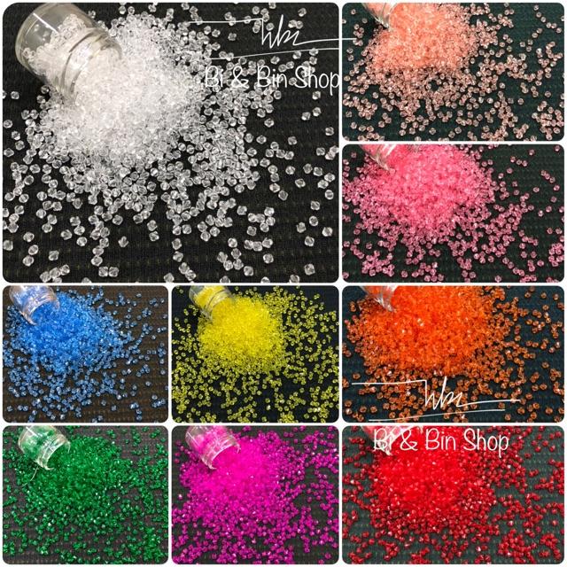 40g Hạt Acrylic Hình Chóp Nón (Thoi) 5mm