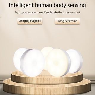 Đèn LED cảm biến thông minh dáng tròn thích hợp cho tủ quần áo/hành lang/cầu thang/phòng ngủ/phòng tắm