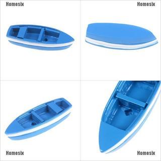 [HHMSI] Resin mini boat decoration statues home landscape exquisite creative blue FWB