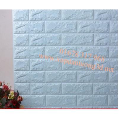 tấm xốp dán tường giả gạch 3d xanh ngọc
