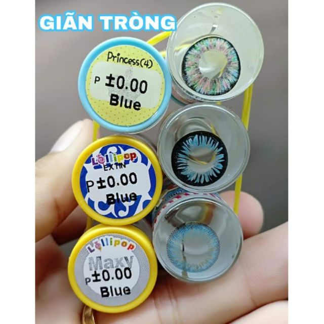 Contact lens /Kính áp tròng – BLUE tặng kèm khây dụng cụ