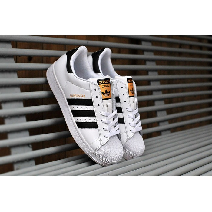 Adidas ORIGINAL SUPERSTAR Adidas Classic Gold Standard Sneakers Shells ผู้ชายและผู้หญิง