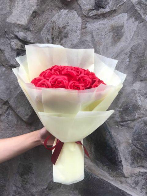 Bó Hoa Hồng Sáp 22 Bông (đỏ)