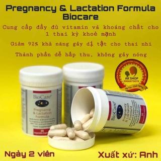 Vitamin bầu bú Biocare hàng chính hãng 60v thumbnail