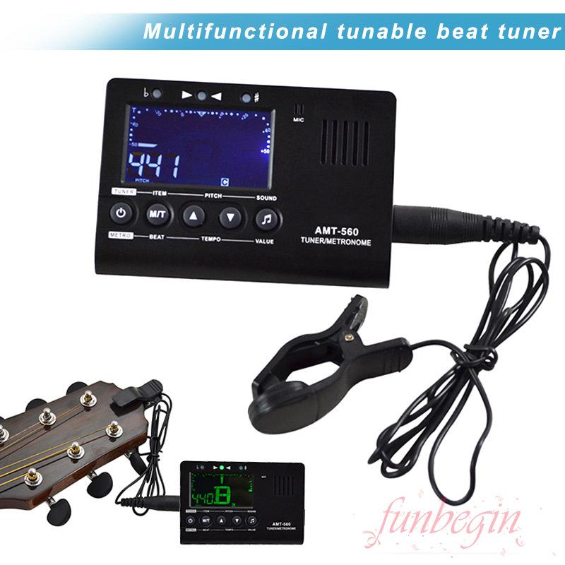 [FB] Tuner Electric Metronome Multifunction Microphone 3 In 1 For Guitar Violin Ukulele