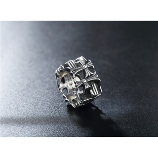 Nhẫn Chrome Hearts 06 - loại titan mạ Bạc 925