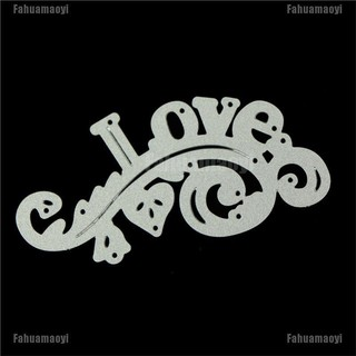 Fahuamaoyi DIY Love Border Decor Metal Cutting Dies For DIY Scrapbooking Card Craft Stencils FA