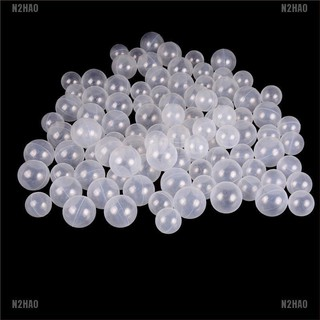 N2HAO 50pcs/lot Baby Safety Transparent White Plastic Pool Ocean Balls Funny Toys