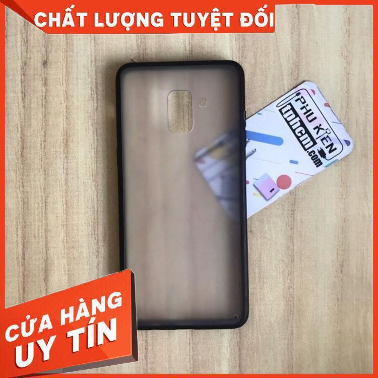 ❀SALE❀ Ốp lưng Samsung A8 Plus 2018 Nhám viền Dẻo đen (*o*)(*o*)