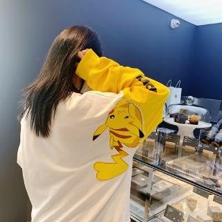 áo thun tay dài in hình pikachu