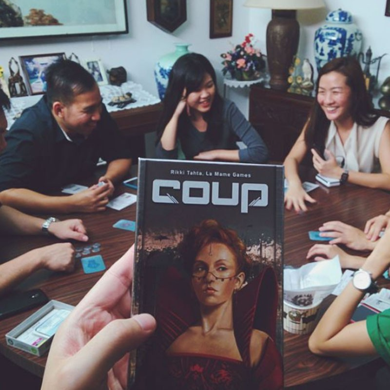 Family Popular Board Game Coup English Edition Card Game Kids Toy Party Board Game Ready Stock