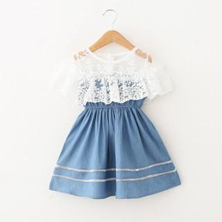 Đầm cotton sát nách in họa tiết dễ thương cho bé