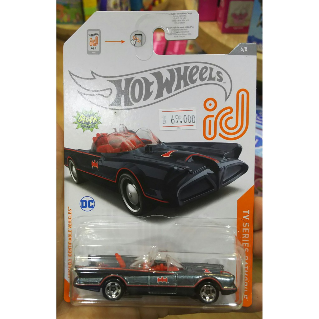 Xe mô hình Hot Wheels id Chase Classic TV Series Batmobile GJP03