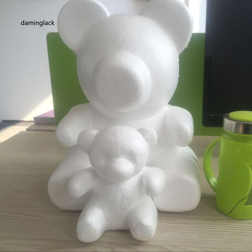 DMGK_20/15cm Foam Bear Modeling DIY Craft Valentine Party Decoration Supplies Gift