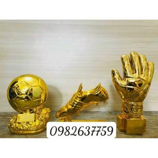 Cúp găng tay vàng ❤️Free Ship❤️Loại Lớn, cúp bàn tay vàng, cúp vàng bóng đá