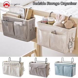 Canvas Bedside Hanging Pocket Storage Bag Bedroom Magazine Storage