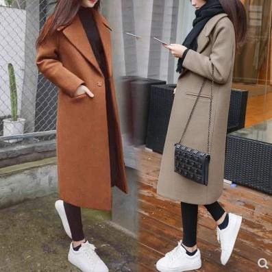 Có sẵn áo khoác dạ nữ dáng dài Hàn Quốc- Áo khoác dạ nữ chất đẹp 2019