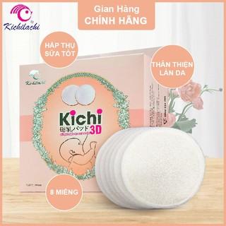 Miếng Lót Thấm Sữa Kichilachi Bằng Vải Giặt Được,Siêu Thấm Hút,Chống Trào Ngược,Kháng Khuẩn,Khử Mùi,Thoáng Mát!