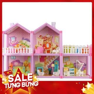 Mô hình lắp ghép nhà búp bê Barbie khổ lớn 60 x 39cm – Siêu HOT