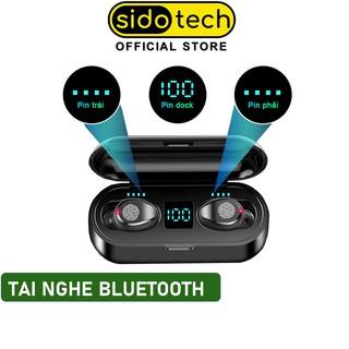 Tai nghe bluetooth không dây mini SIDOTECH F9 Plus TWS true wireless có mic in ear chống ồn gaming thể thao - Chính Hãng thumbnail