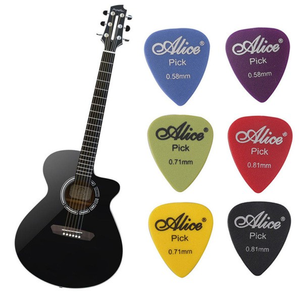 100 Pcs Acoustic Electric Guitar Bass Non-slip Matte Picks Colorful Mix